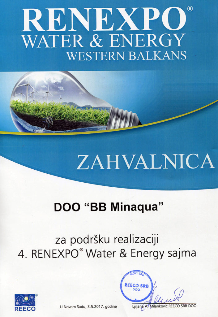 zahvalnica RENEXPO WATER and ENERGY