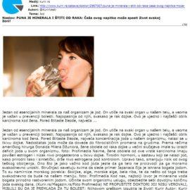 Puna je minerala i stiti od raka: čaša ovog napitka može spasiti život svakoj ženi!