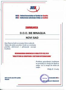 """Međunarodna konvencija o kvalitetu JUSK ICQ 2014. """"KA INTEGRISANIM SISTEMIMA"""""""