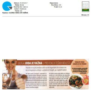 Uloga joda je vazna, Sensa 04.08.2017.